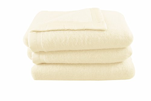 Comptoir du Linge - Manta 100% pura lana virgen etiqueta