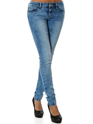 Daleus Damen High-Waist Jeanshose Push-Up DA 15951 Blau S / 36