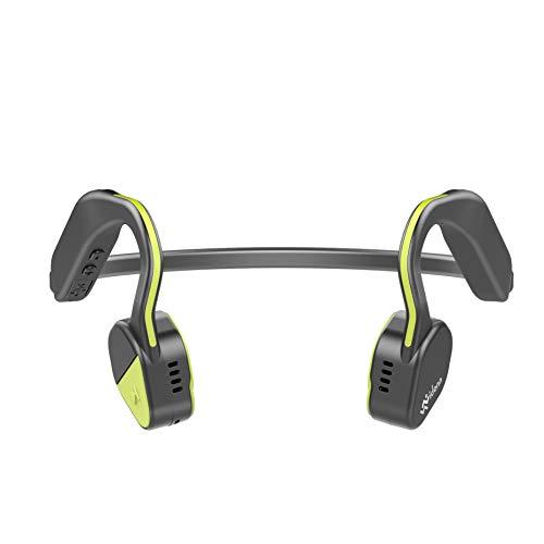 Vidonn f1 plus wireless auricolari bluetooth a conduzione ossea con microfono per attività sportiva, giallo
