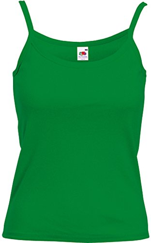Fruit of the Loom - Spaghetti-Träger-Top 'Lady-Fit Strap T' XXL,Kelly Green