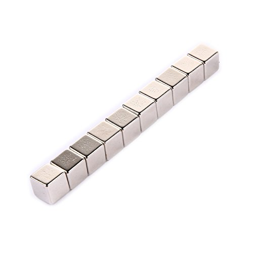 42 Magnete Super Magnete Minimagnete Haushaltsmagnete Starkmagnete für Pinnwand Tafel 10 x 10 x 10 mm (Große Magnetische Blätter)