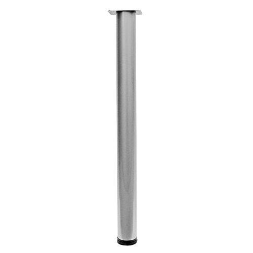 Home System 67808 Tischfuß, rund, Durchmesser 60 mm, Höhe 710 mm, verstellbar, Aluminium, matt