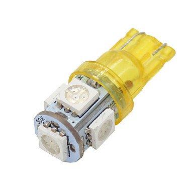 GANTA® 4x t10 168 Bernstein gelb High Power 5050-Chip Innen 5 geführte Glühlampen W5W 194 , yellow