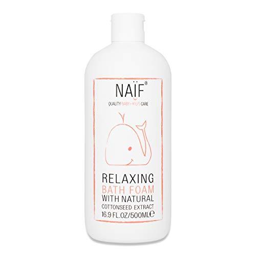NAÏF Natürlicher Badeschaum für Baby und Kinder, Badespaß ohne aggressive Chemikalien, 500 ml - Natürliche Jojoba-shampoo