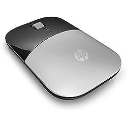 HP Z3700 Silver Wireless Mouse - Souris sans fil - Argent/Noir