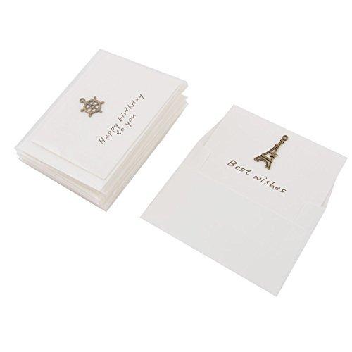DealMux Papier Hochzeit Geburtstag Retro Art-Einladung Geschenk Karten Umschläge 10 Sets