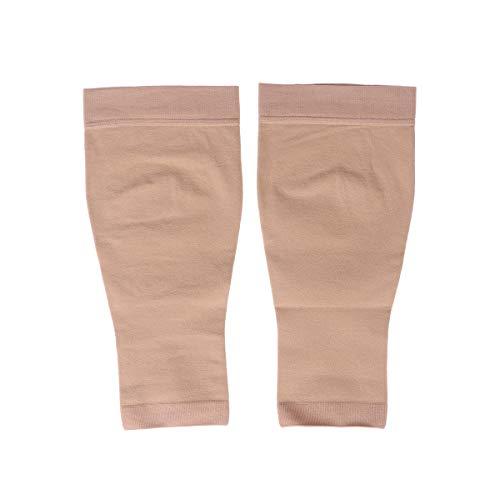 Healifty Wadenstrümpfe Beinlinge Waden Kompressionsstrümpfe Kompressionssocken für Damen Herren Sport Joggen Schwangerschaft Krankenpflege Medizinische Bein Socken - L (Nackt)