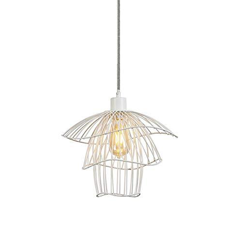 Deckenpendelleuchte Kronleuchter Eisen Kunst Lampe Retro Einfache Industrie Wind Schlafzimmer Kleine Kronleuchter (Farbe: Schwarz)