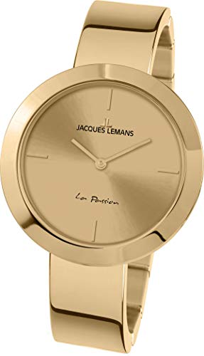 Jacques Lemans La Passion Femme 37mm Doré Quartz Montre 1-2031K
