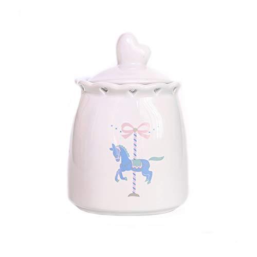 Teng Peng Haustier Sarg, niedliche Haustier Sarg mit Deckel Keramik Tier Gedenk Katze Hund Feuchtigkeit Beweis Trauer Asche (Color : Pony, Size : L)