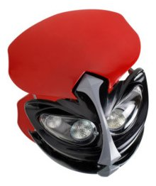 PUIG - 1626G/72 : Careta con luz Placa Bifaro Universal TT