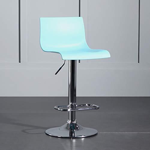 LYLQQQ Sgabello da Bar Regolabile da Cucina for Colazione da Bar, Sgabello Alto da Cucina Girevole A 360 ° con Schienale Sedia da Bar (Color : Blue)