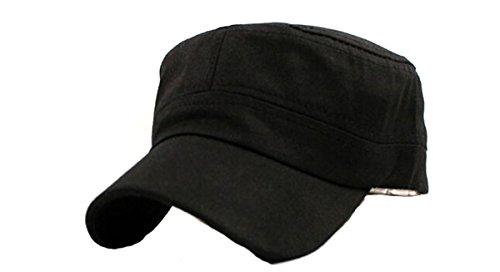 EJY Unisexe populaire Camionneur militaire Cadet Patrol Bush Hat Baseball Visière (noir)