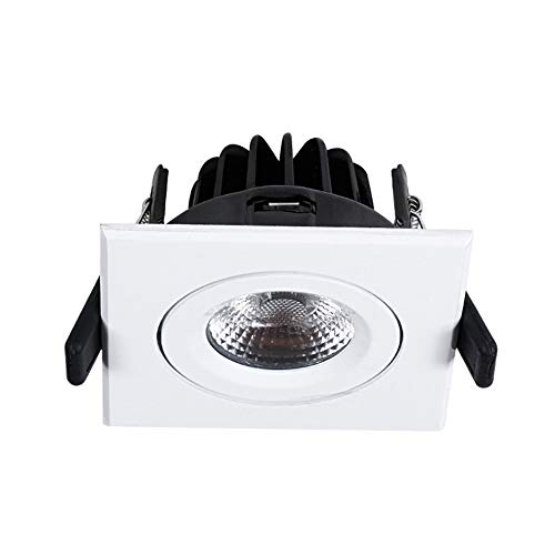 Wlnnes 8W LED Empotrable Parrilla Luz Oficina de Hotel Iluminación Comercial Empotrada...