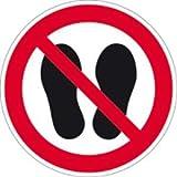 Schild Verbotsschild Betreten der Fläche verboten 20cm Ø PVC