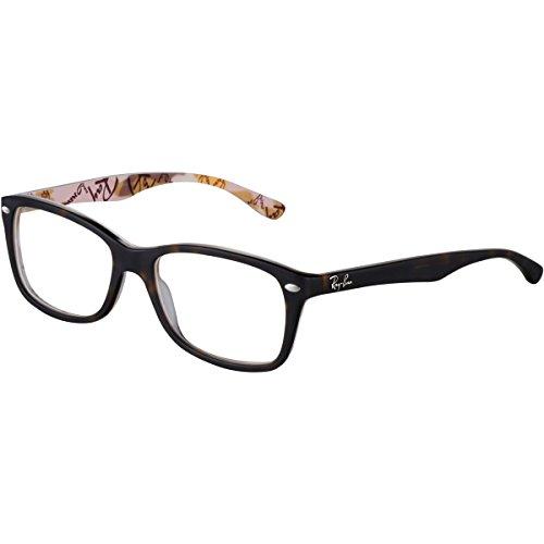 Rayban Damen Brillengestell RX5228, Braun (Havana), 50