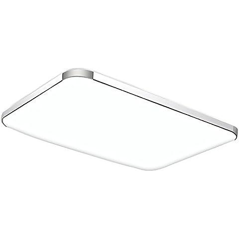 BBSLT Led di natale, lampada da soffitto, soggiorno, camera da letto, oblunga, moderna atmosfera minimalista, (93*65*11cm) - Ash Tonalità Legno