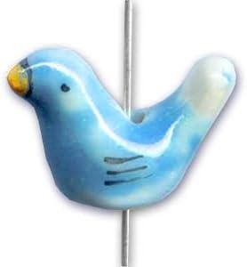 Perles & Co Oiseaux en en en céramique 14x19 mm Blue Turquoise x4 711fde
