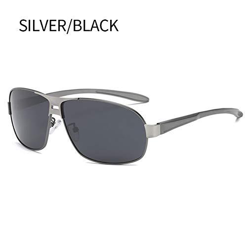 FHXTWB Sonnenbrille Herren Polarisierte Uv400 Retro Square Driving Sonnenbrille Vintage Metal Mirror Sonnenbrille