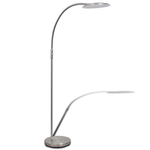 vidaXL LED Stehlampe Bogenleuchte Deckenfluter Lese Standlampe Beleuchtung dimmbar 18 W