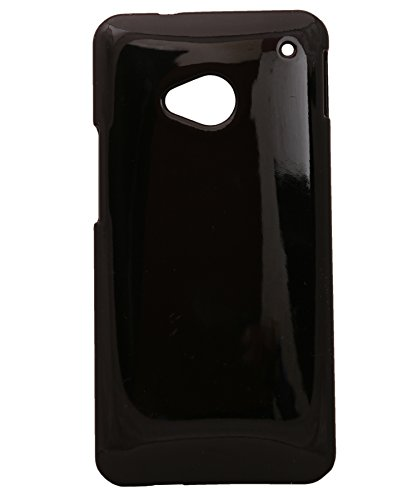 iCandy™ Colourful Glossy Hard Back Cover For HTC One M7 - Black  available at amazon for Rs.180