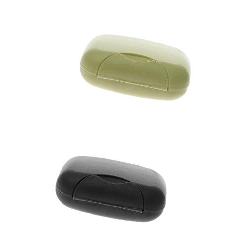 Generic-Videoleuchte tragbar Seifendose aus Kunststoff Fall wasserdicht mit Deckel für Reise–Schwarz + Grün Olive