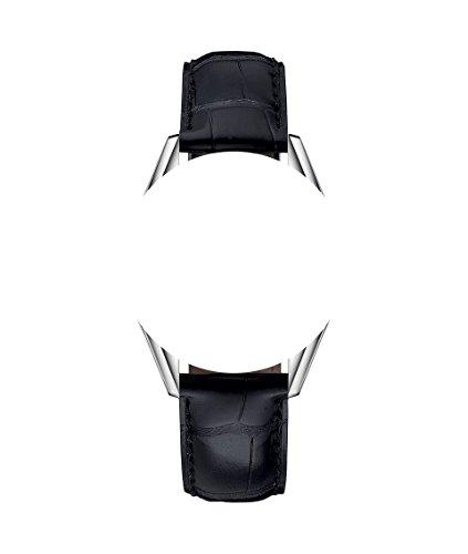 Correas de piel para reloj Tag Heuer, 22 y 20 mm, aspecto de piel de cocodrilo, costuras negras, color negro y beis