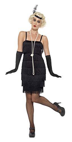 Smiffy's-Smiffys Flapper Costume Disfraz, color negro, XS-UK Size 04-06 BR45498XS