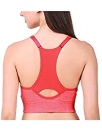 98ad3c8fbc Dilency Sales T-Back Multicolor Padded for (Sports Gym Yoga Dancing Workout  Aerobic Running Cotton) Bra