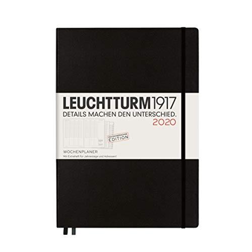 Wochenplaner 2020 Hardcover Master (A4+), Schwarz, Deutsch (Schwarz Wochenplaner)