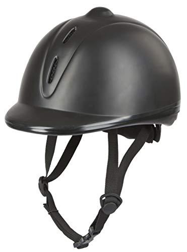 Covalliero Kinder Helm Reithelm Econimo VG1, Schwarz, 52-55 cm