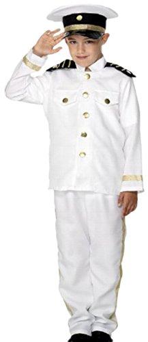 erdbeerclown - Jungen Kapitän Kostüm, 134, - Fisch Kleinkind-halloween-kostüm