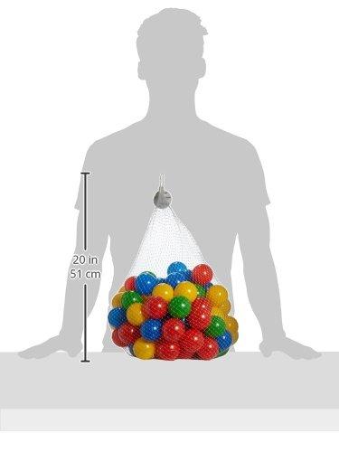 Knorrtoys 56789 - Bälleset - 100 bunte Plastikbälle/ Bälle für Bällebad im Netz, 6 cm Durchmesser, in Farbmischung blau / rot / gelb / grün, ohne gefährliche Weichmacher, TÜV-Rheinland Testbericht v. April 2016 -