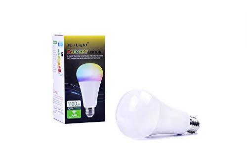 kingled Lampe LED E27RGB + CCT WiFi 2.4GHz-Glühlampe Glühbirne 12W 1100LM-Licht RGB + CCT überschaubar-Fernbedienung oder-Smartphone-mi-light 2392 Beam Diffusor