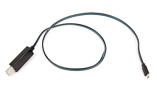 Duragadget Câble USB Lumineux Bleu pour Enceinte Portable Bose SoundLink Colour, SoundLink Mini et Mini II - Port Micro USB