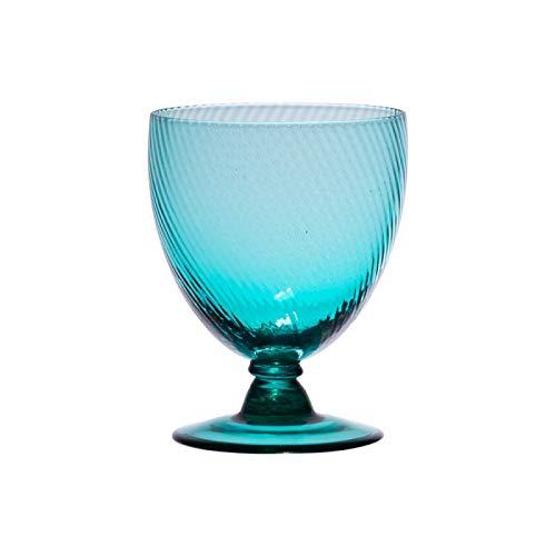 Table Passion - Verre à pied luberon bleu turquoise 28.5 cl (lot de 6)