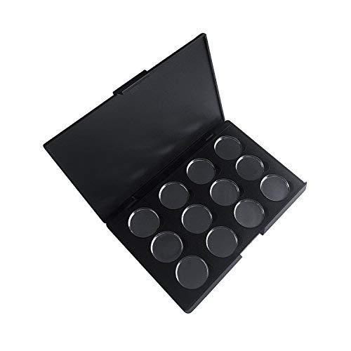 Leere Make-up Palette (Allwon Leere magnetische Lidschatten-Make-up-Palette mit 12 Stück 26mm runden Metallpfannen)