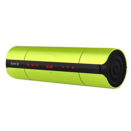 JTMML Drahtloser Lautsprecher, tragbarer NFC-Bluetooth-Lautsprecher mit LED-Touchscreen-Unterstützung