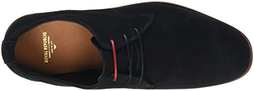 Royal Republiq Evo Shoe Suede, Derbys Homme Schwarz (Black)