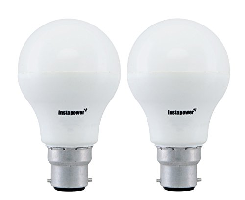 Instapower Base B22 9-Watt LED Bulb (Cool Day Light and Pack of 2)
