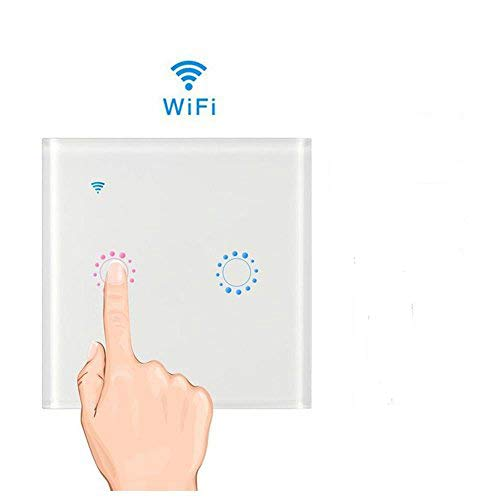 Teepao interruttore wifi con led touch screen casa intelligente interruttore smart supporto controllo remoto tramite ios android app google home e welink interruttore luce da parete (bianca2)