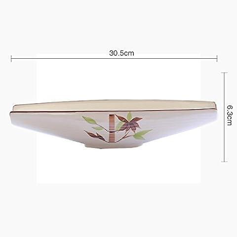 LGK&FA Bol En Céramique De Forme Bateau Saladier Coupe De Fruits Dim Sum Japonais Accueil Légumes Dessert Bol Bol Irrégulier Grand