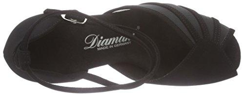 Diamant - Diamant Damen Latein Tanzschuhe 020-077-040, Scarpe da ballo - Standard & l'America Donna Nero (Schwarz)