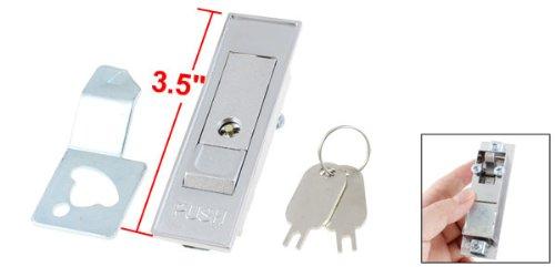 Einbaustrahler 8.89 cm lang, rechteckig, Metall, Tür Schrank Schloss mit 2 Schlüsseln