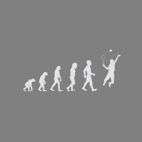 Badminton Evolution - Herren Langarm T-Shirt T-Shirt Weiß