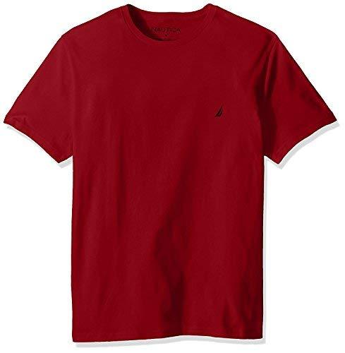 Nautica Men's Short Sleeve Crewneck Tee T-Shirt (Small, True Red) -