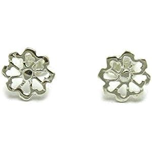 Sterling silber Ohrringe Blume 925 Empress jewellery