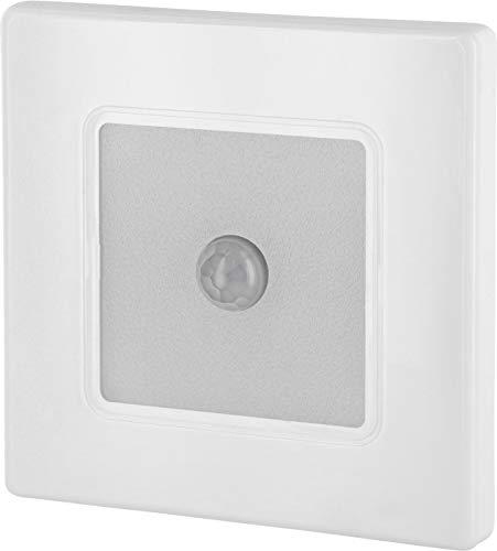 Foco LED empotrable para pared con detector de movimiento, 230 V, cuadrado,...