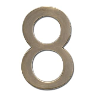 Architectural Mailboxes 3585AB-8 Brass 5-Inch Floating House Number 8, Antique Brass by ARCHITECTURAL MAILBOXES