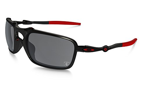 Oakley Badman OO6020-07 Scuderia Ferrari Collection Polarized Sonnenbrille (dark carbon/black iridium polarized) -